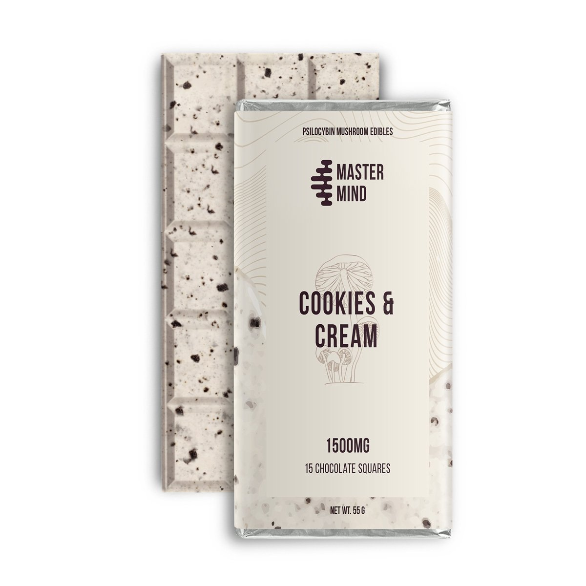 Master Mind - Cookies and Cream Chocolate - 1500 Mg